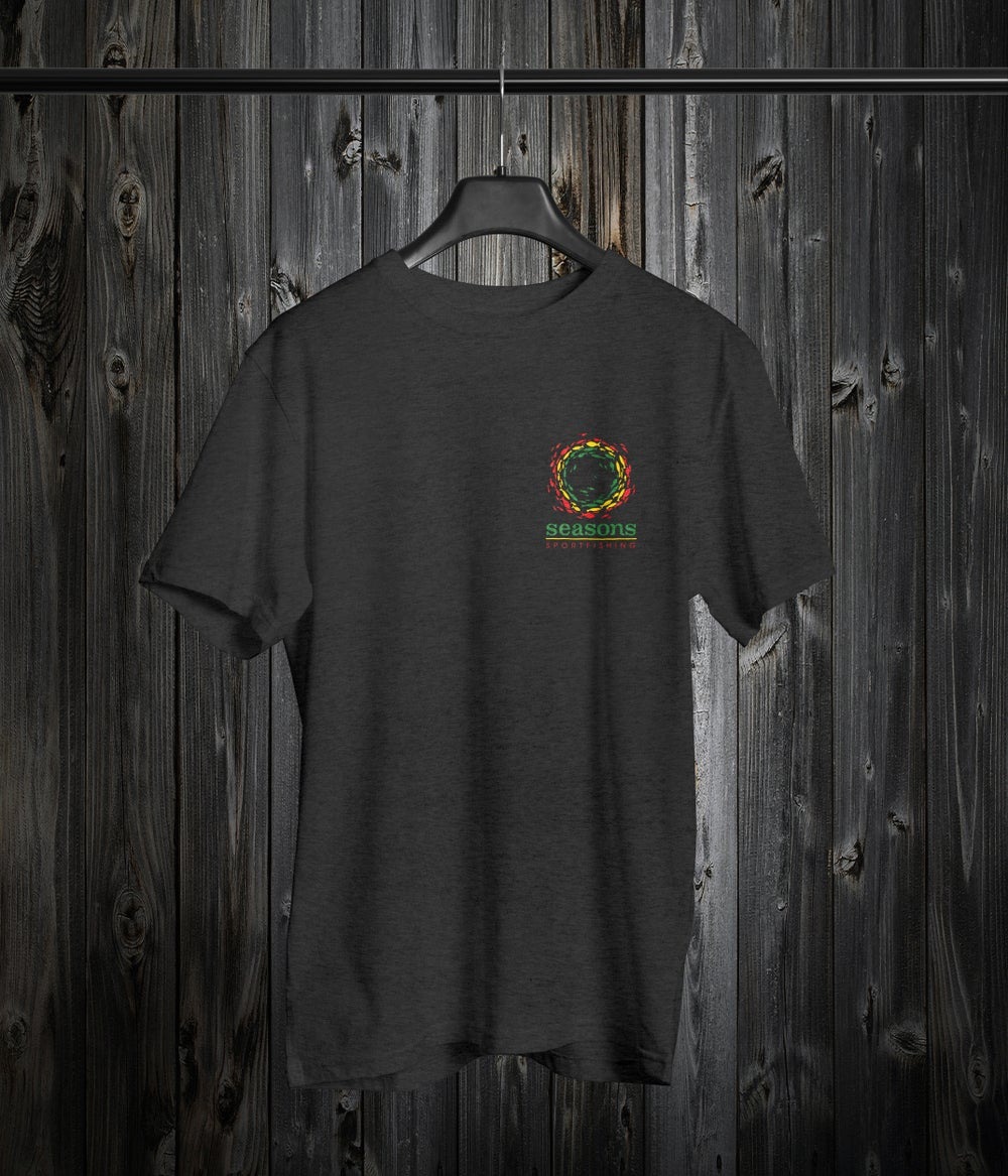 Image of SEASONS - ASH GRAY- RASTA SONAR SCHOOL (SMALL HIT ON FRONT & LARGE HIT ON BACK)