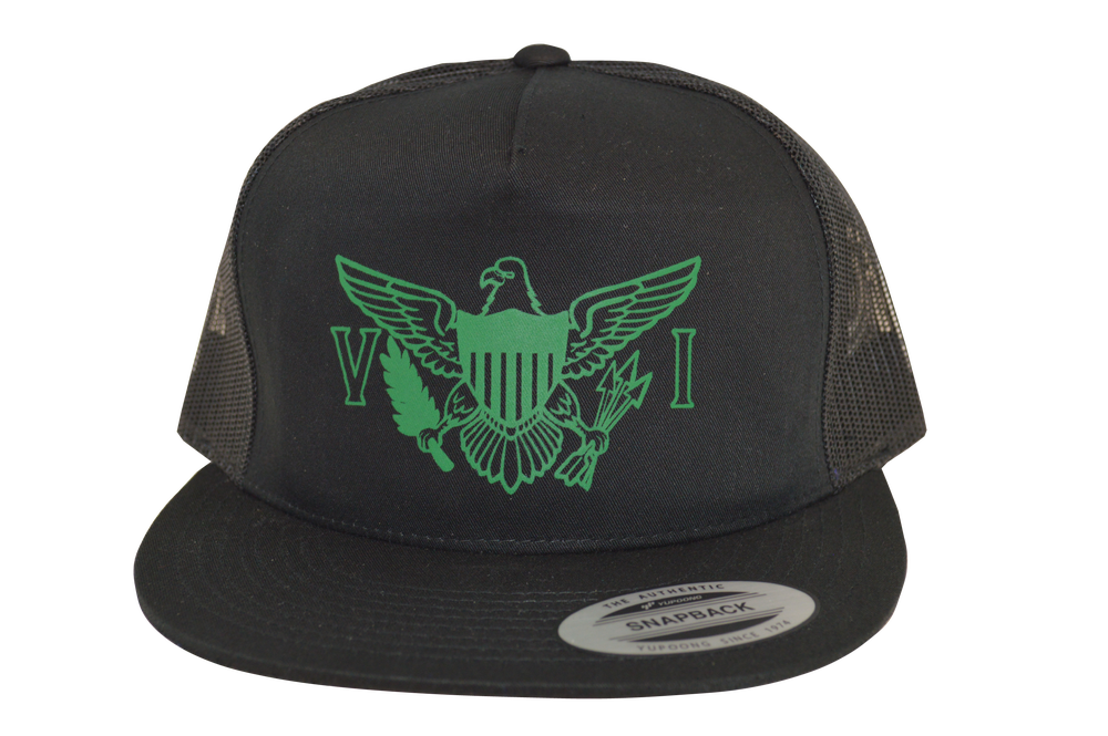 "Image of Yupoong 6006 Trucker Hat ""VI Flag"""