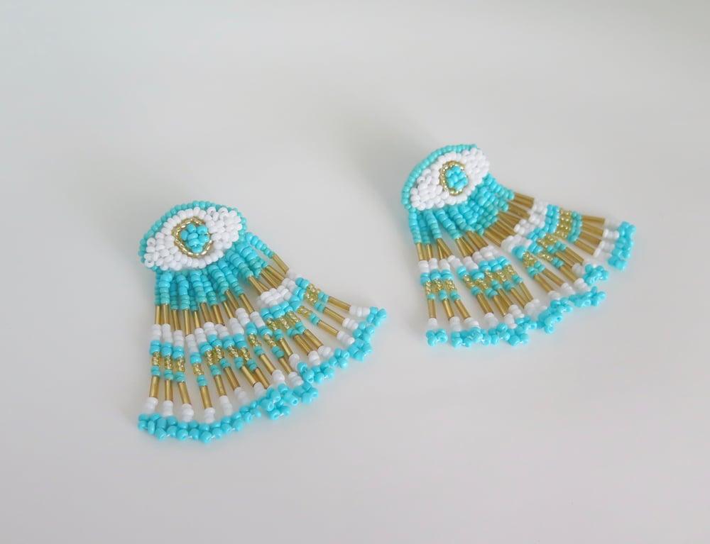 Image of Moroccan Eye Turquoise Earrings