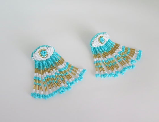 Image of Moroccan Eye Turquoise Earrings