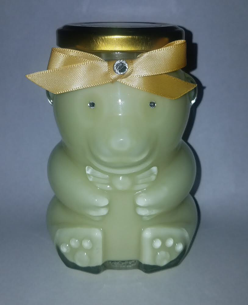 Image of BEAR GLASS JAR CANDLE