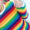 Rainbow Stripe Long Sleeve Top