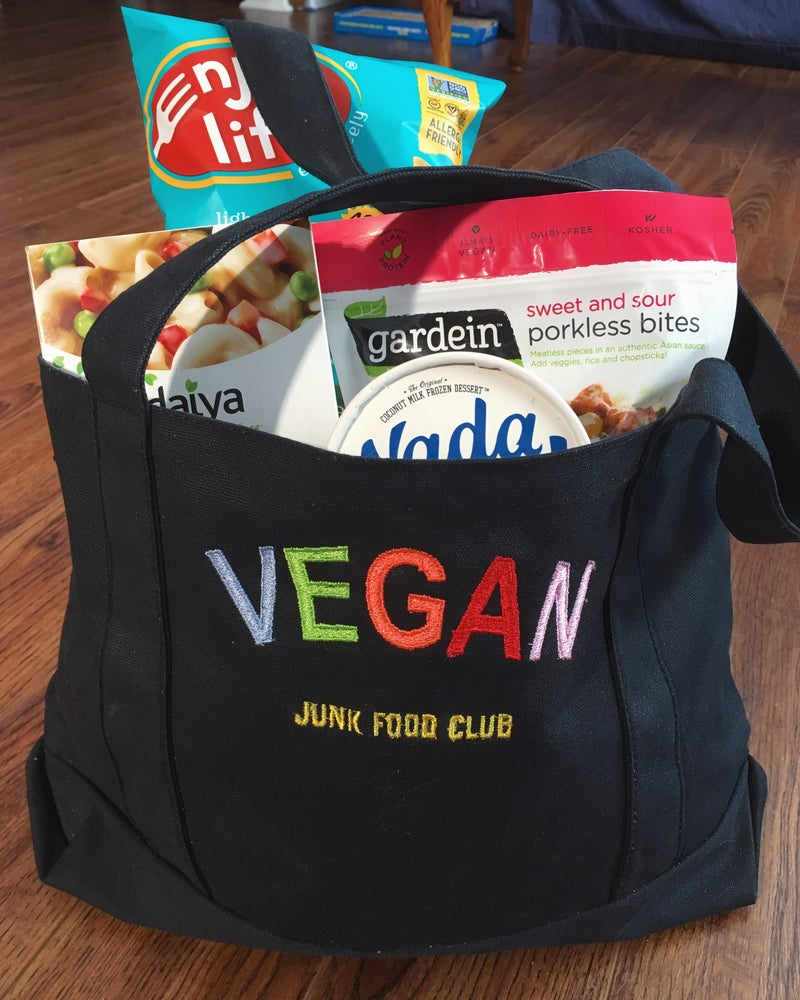 Image of Vegan junk food club tote