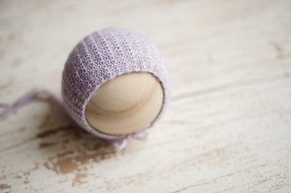 Image of Lilac Linen Stitch Bonnet