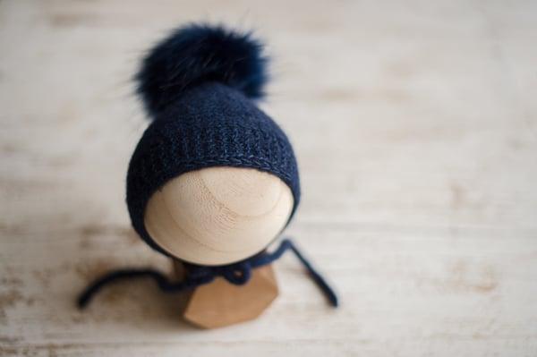 Image of Special Bonnet + Faux Fur Pom Pom