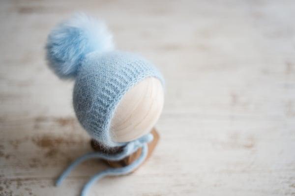 Image of {ANGORA} Special Bonnet + Faux Fur Pom Pom
