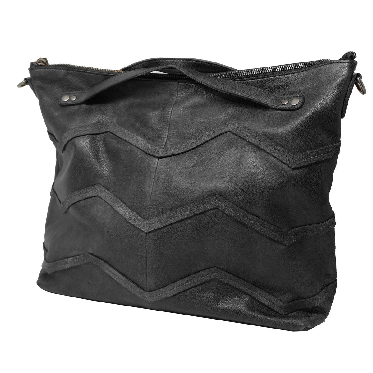 Image of Hope Leather Tote - black