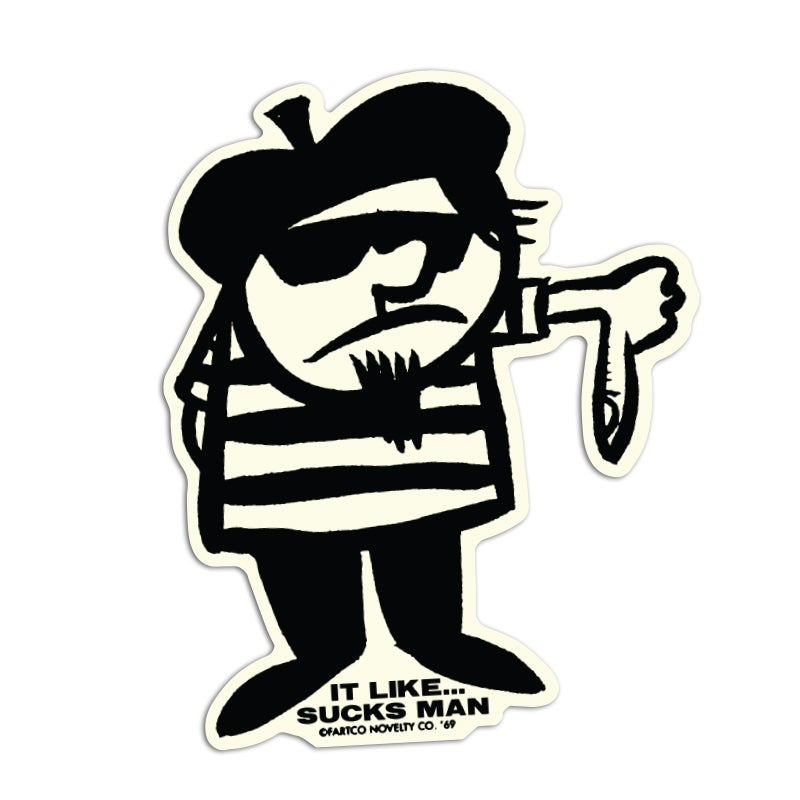 Image of Sucks Man Sticker