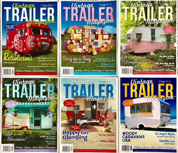 Image of 6 Issues Vintage Trailer Magazine