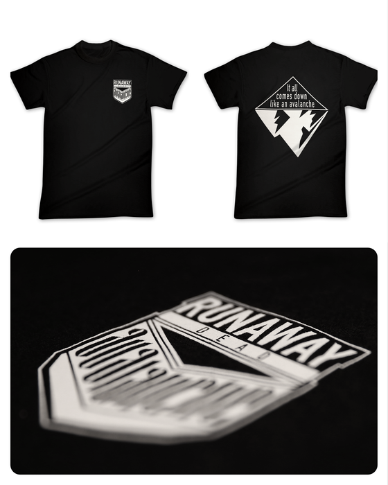 """Image of T-Shirt """"AVALANCHE"""" black"""