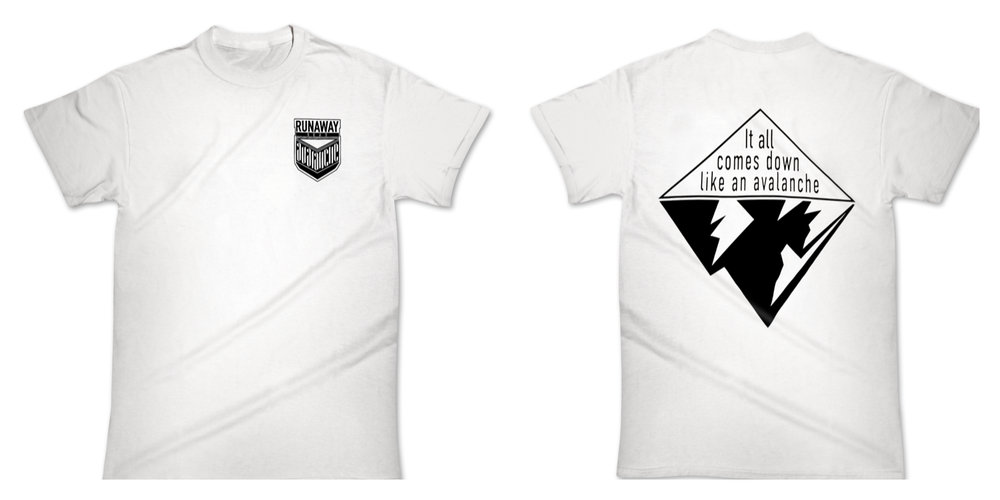 """Image of T-Shirt """"AVALANCHE"""" white"""