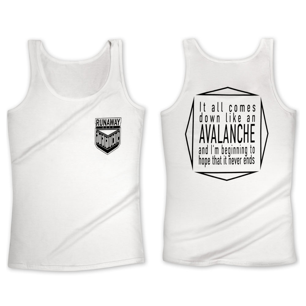 """Image of Tanktop """" AVALANCHE"""" white"""