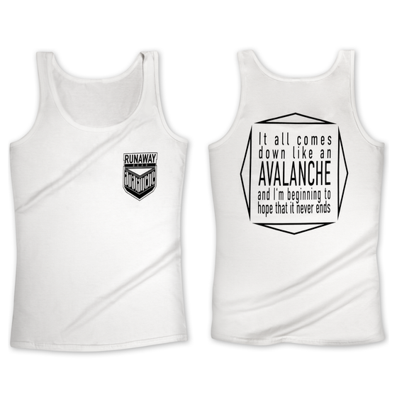 "Image of Tanktop "" AVALANCHE"" white"