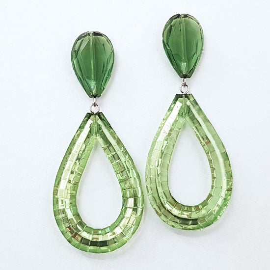 Image of Rain Drop Earrings - Chartreuse