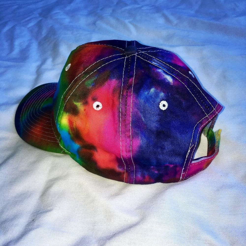 Image of Wolf Custom Embroidered Tie Dyed Hat!!