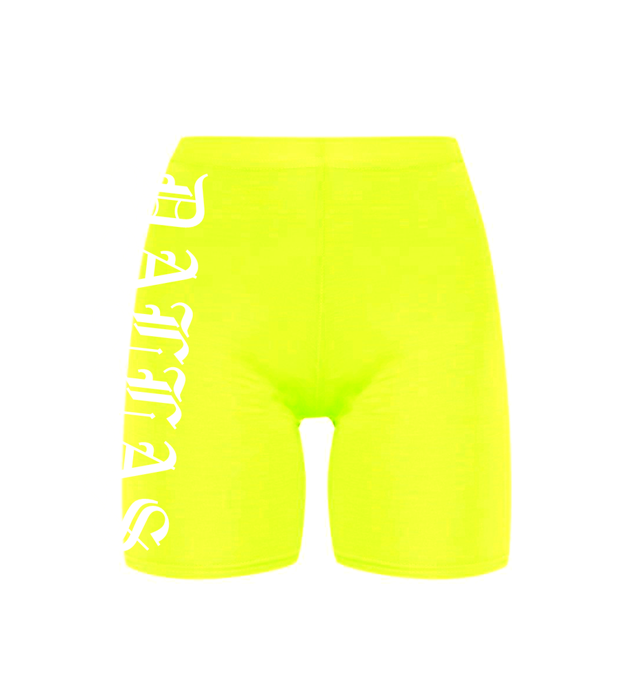 Image of DALLAS NEON BIKE SHORTS