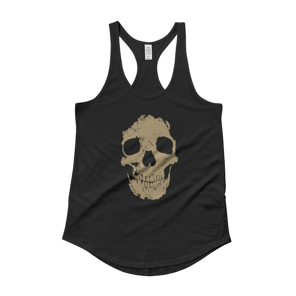 Image of Skull Tank - Black and Gold