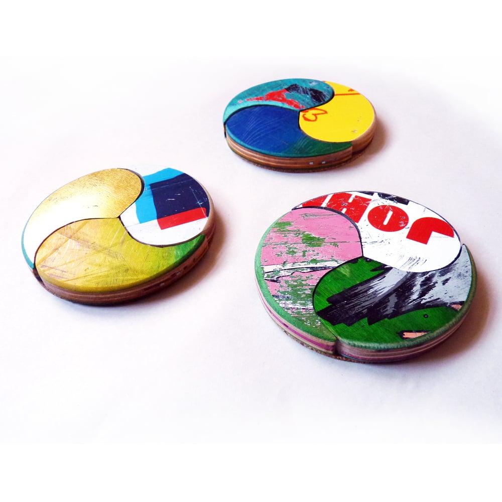 Image of Wheel of Joy - Coaster Set of (3) Three by Deckstool.