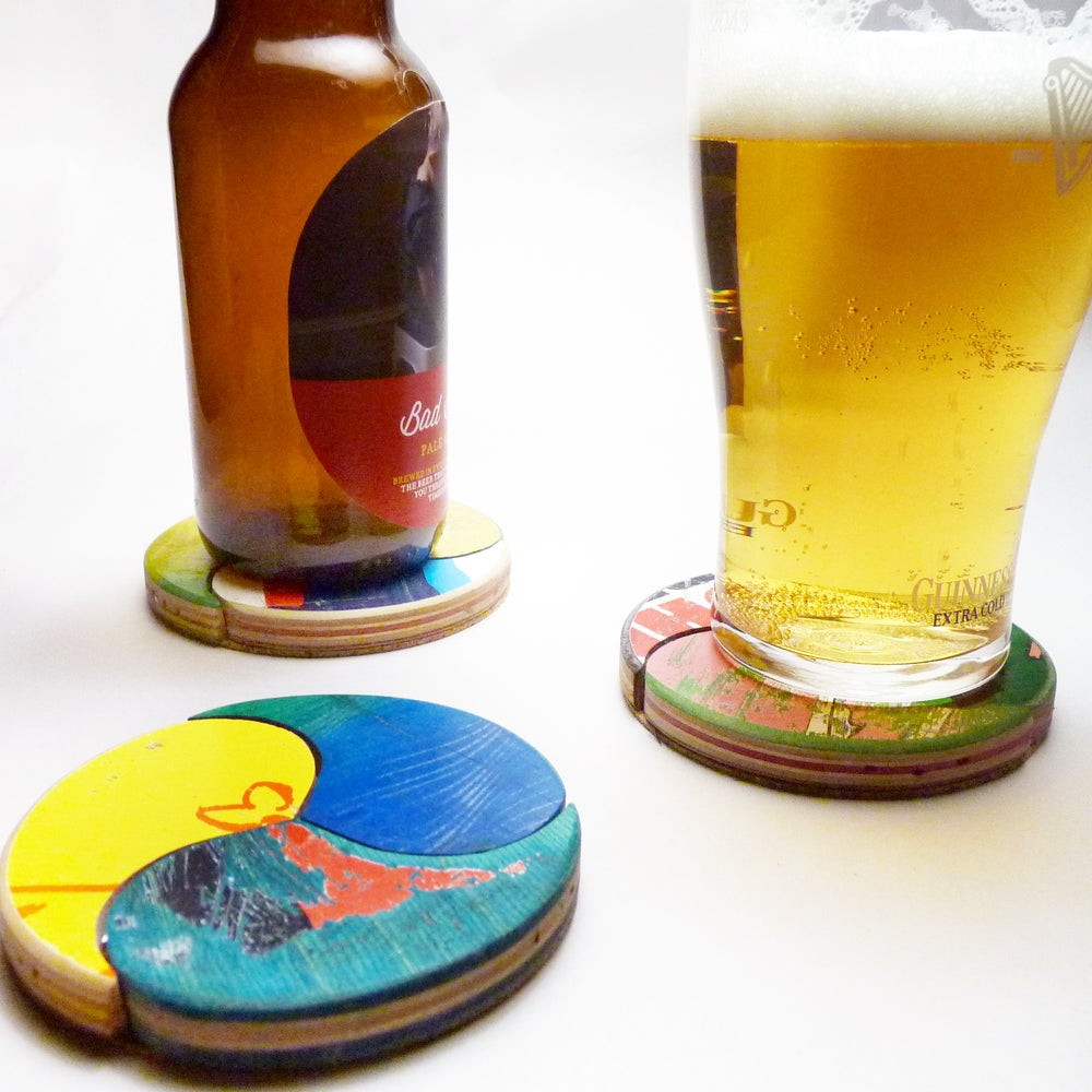 Image of Wheel of Joy - Coaster Set of (3) Three by Deckstool.