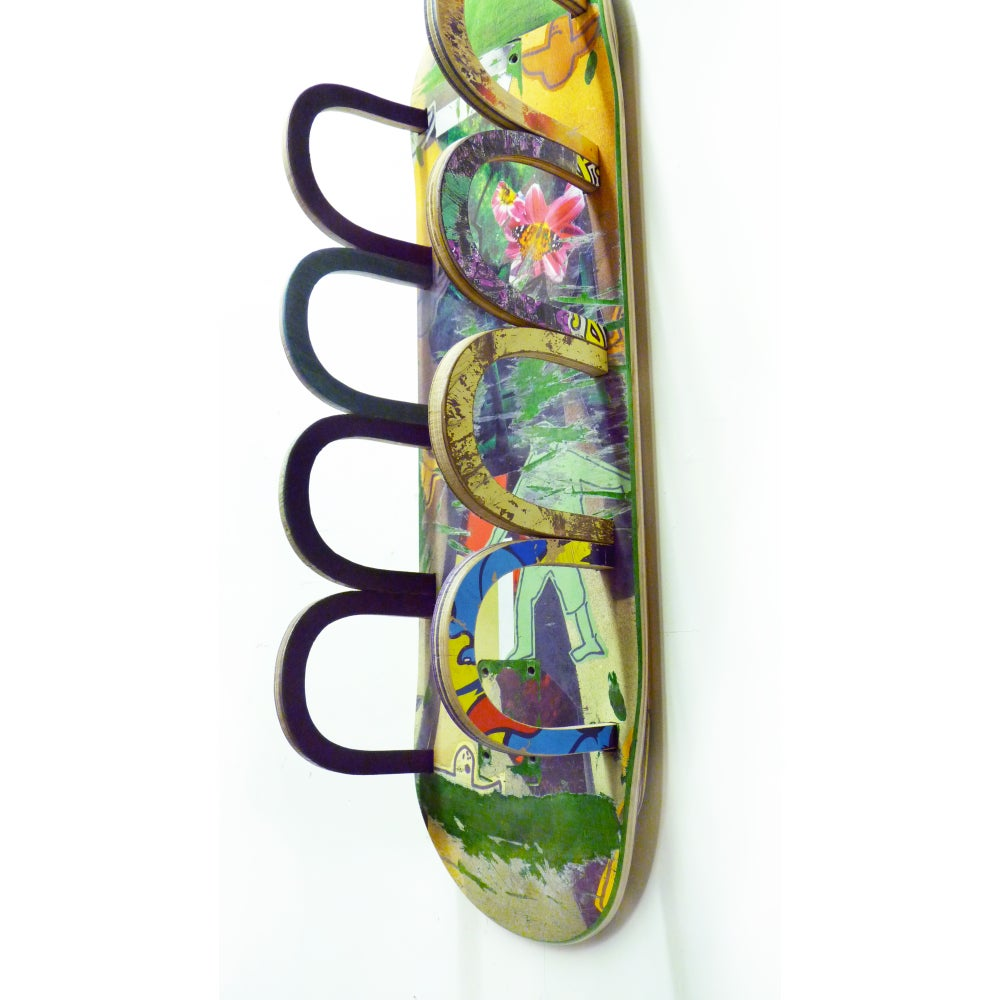 Image of Recycled Skateboard Wine Rack - Free (USA) Shipping.