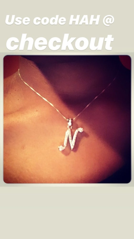 Image of Small Initial Necklace on thin Chain