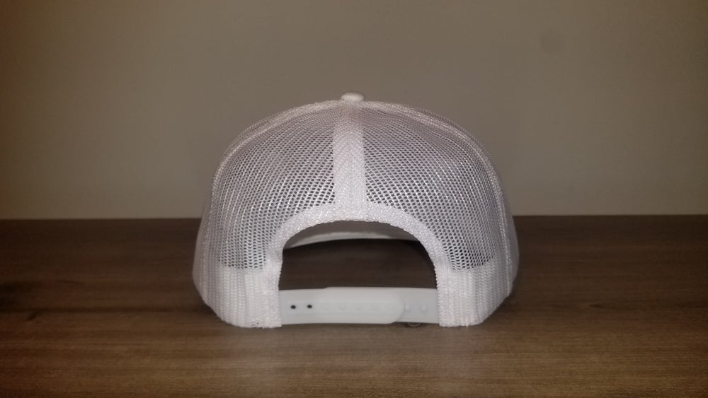 White Netted Snapback with Patch