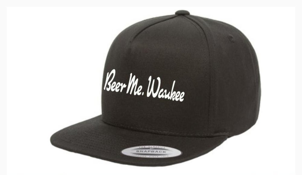 Black Embroidered Snapback