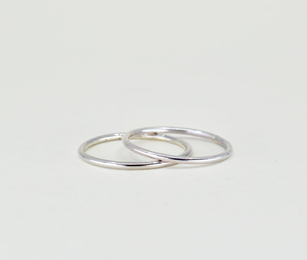 Image of Sterling Silver Smooth Stack Ring