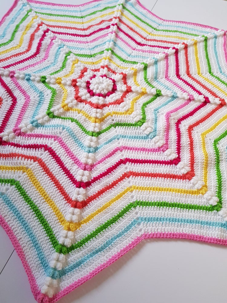 Image of Rainbow Star Blanket