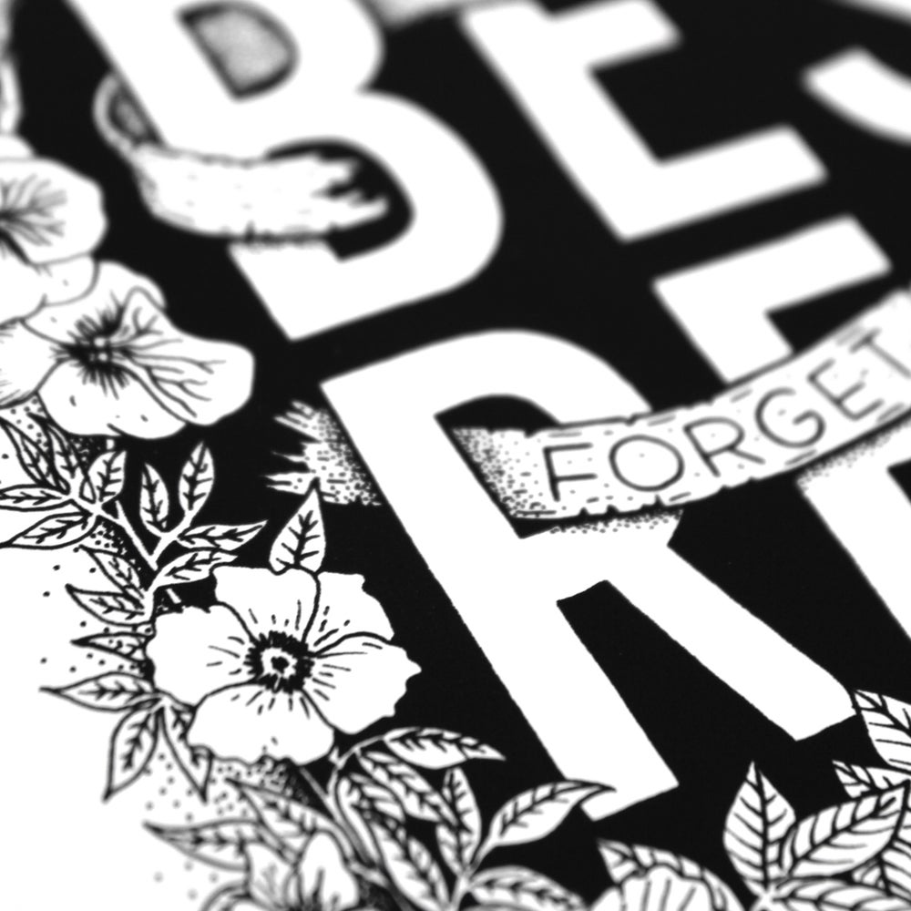 Image of Do Your Best Forget The Rest - Hand lettered print