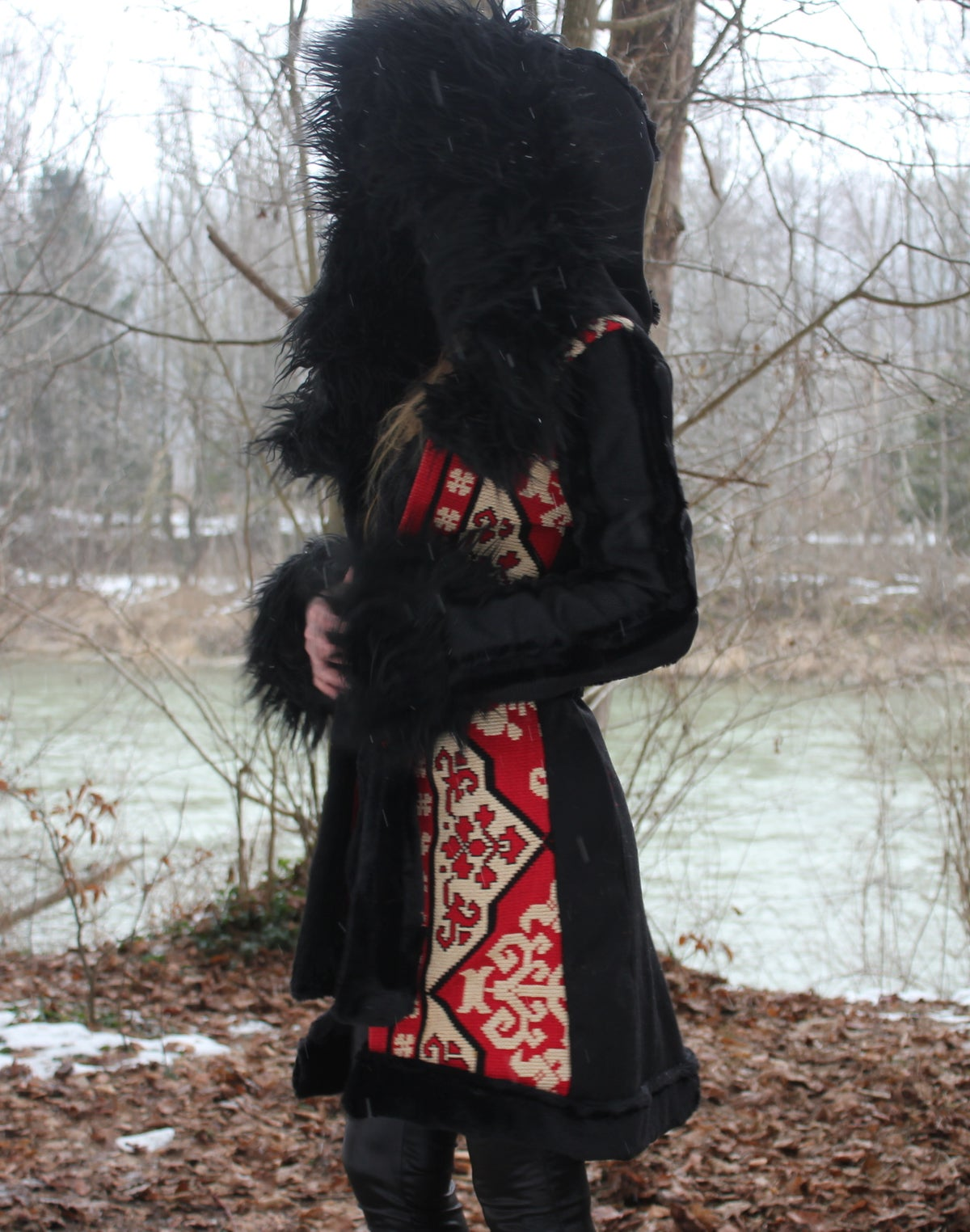 Image of INDIAN SUMMER FAUX FUR WRAP COAT