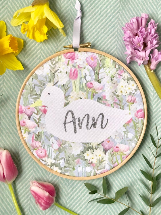Image of Spring Duck Embroidery Hoop