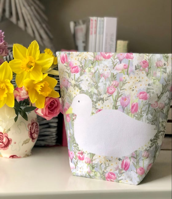 Image of Spring Duck Fabric Basket