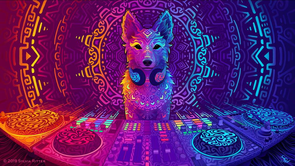 Image of Disco Dingo - Signed Giclée Print