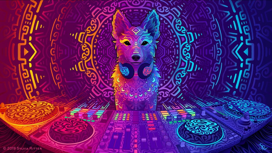 Image of Disco Dingo - Signed Giclée Print
