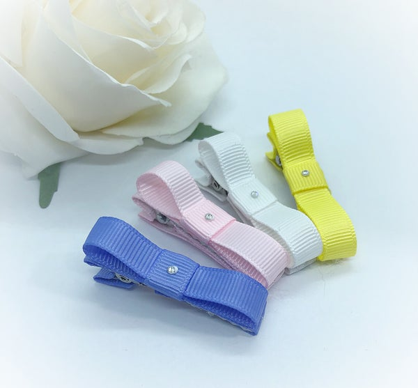 Image of Set of 4 ribbon fringe clips