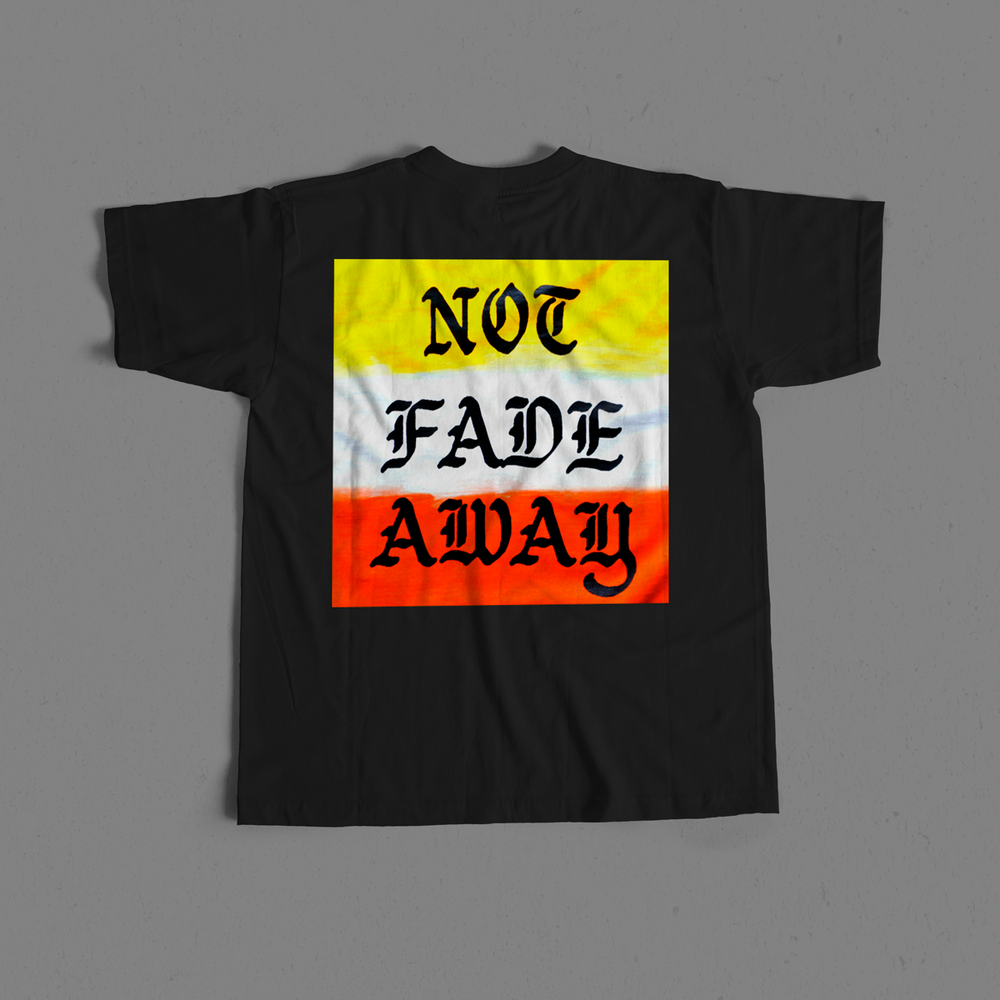 Image of Not Fade Away Gradient Pocket Tee - Black