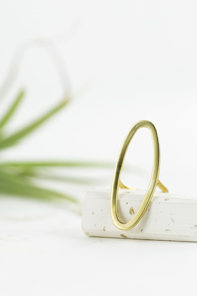 Image of Oval statement ring