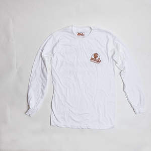 Image of Get High On Blue Grass Long Sleeve Tee - White