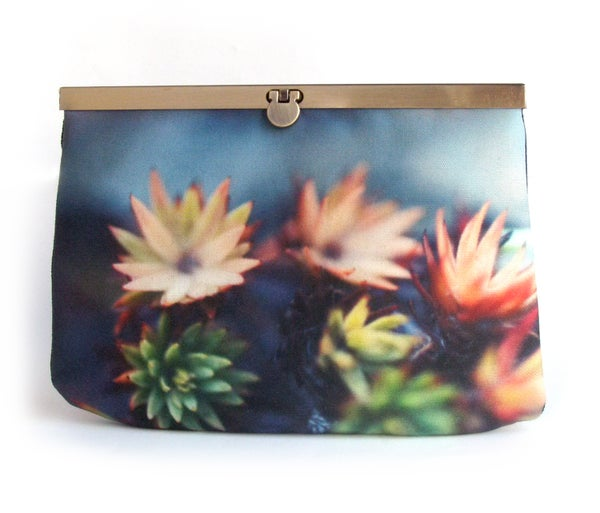 Image of Moss flowers clutch bag