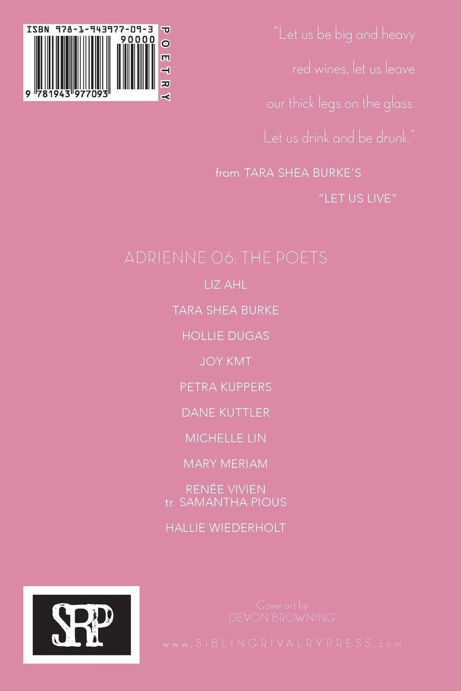 Image of Adrienne Issue 06: A Poetry Journal of Queer Women