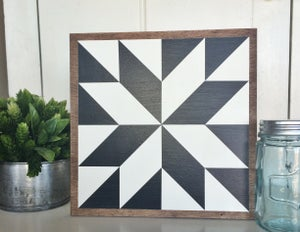 "Image of Set of 4 - 11""x11"" Wood Barn Quilts"