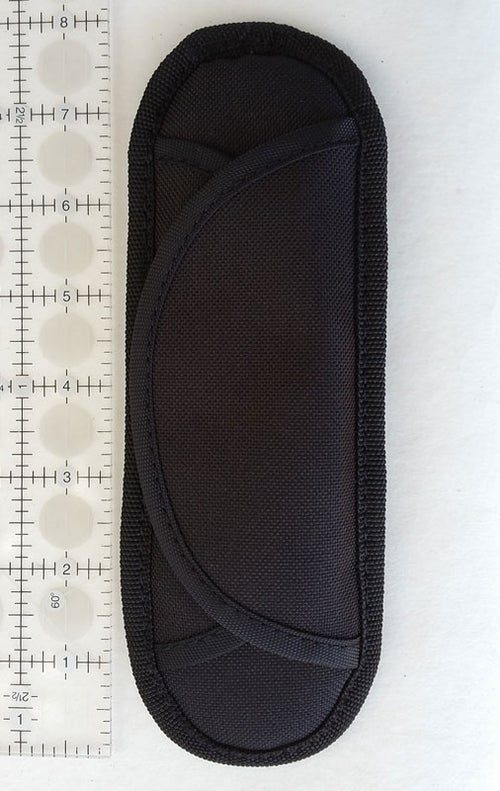Image of Padded Shoulder Pad - Black - Hook & Loop Closure - For 1-2 inch Wide Straps