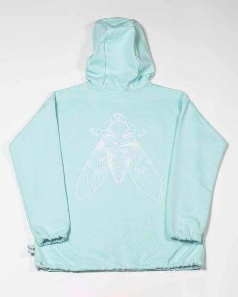 Image of Mint Moth Hoodie