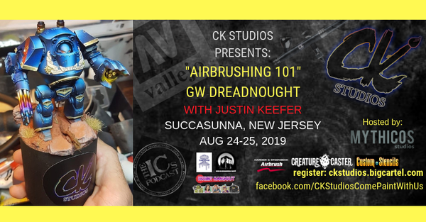 Image of New Jersey Airbrush 101, Aug 24-25 with Justin Keefer