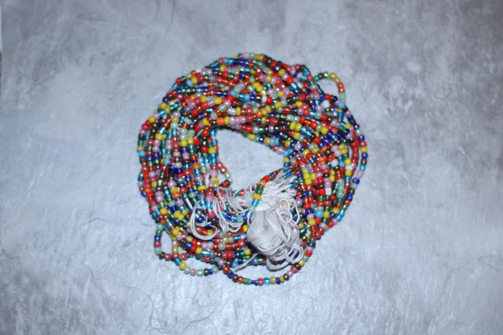 Image of Rainbow tie waistbead