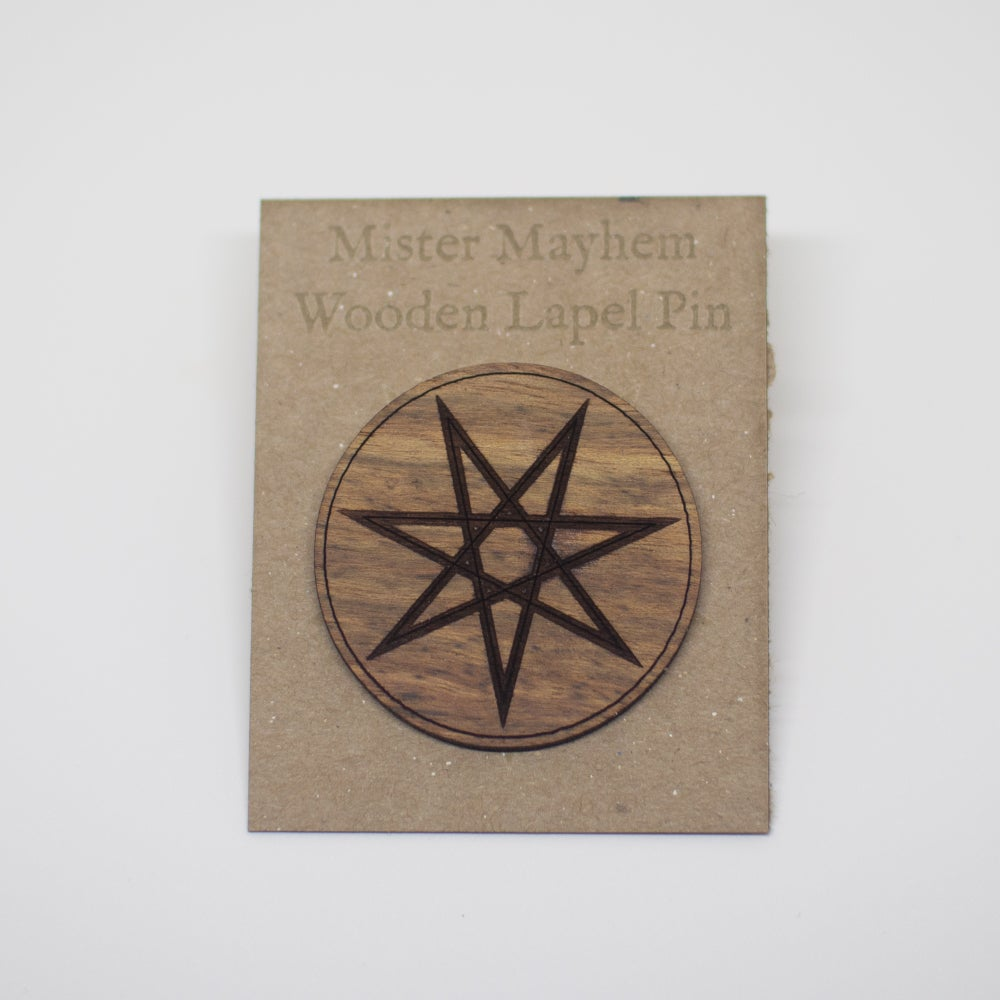 Image of Wooden Lapel Pin (Elven Star)