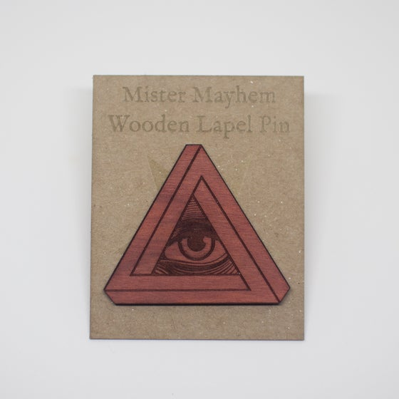 Image of Wooden Lapel Pin (All Seeing Eye)