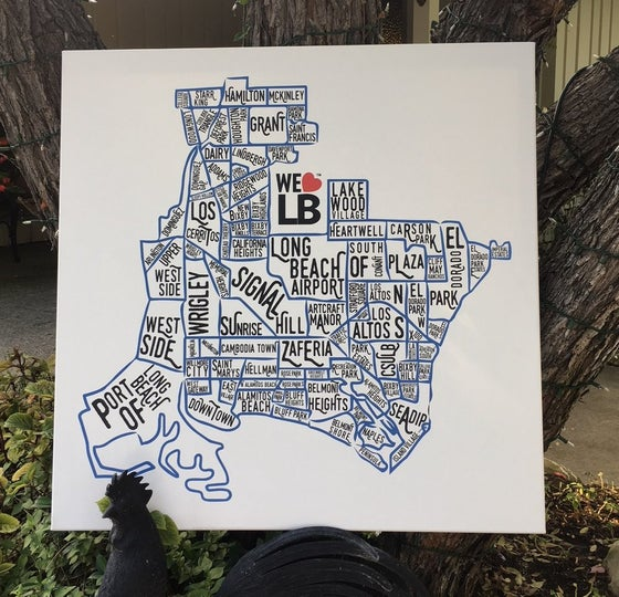 Image of Neighborhood Map on Canvas (Special Order)