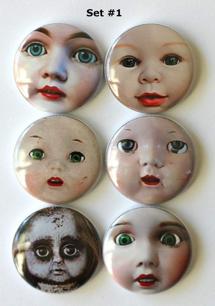 Image of Vintage Doll faces